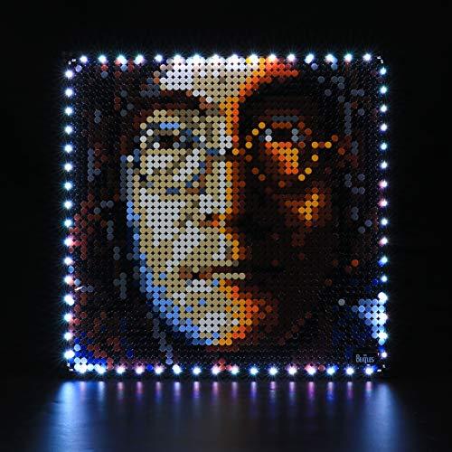 LIGHTAILING Conjunto de Luces con un Control Remoto (Art The Beatles) Modelo de Construcción de Bloques - Kit de luz LED Compatible con Lego 31198(NO Incluido en el Modelo)