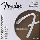 Fender 073-0060-405 60CL .011 - .052 Phosphor Bronze Cordes de guitare acoustique légères personnalisées