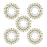 YFaith 50 Piezas Ganchos de Marco de Foto Kit, Triángulo Anilla con Gancho, Marco de Fotos de Gancho, Colgador de Cuadros, con Tornillos, Para Hogar Oficina Pintura Colgando Surtidos