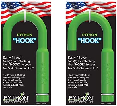 Python Hands-Free and Spill Free Aquarium Hook, Green, 10.25 x 1.50 x 5.50