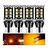 PINGPANG 4x T15 W16W CANBUS NO ERROR 2 1SMD 2835 LED Luz De Freno De Bulbo De Cola De Coche Auto Auto Reversa Lámpara Gire Las Señales Red Blanco Amarillo Naranja 12V ( Emitting Color : Orange )