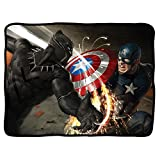 Captain America - Civil War Black Panther Battle Fleece Blanket Black Standard One Size