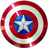 Escudo Capitan America 58cm Adulto Apoyos de PelíCula NiñOs CapitáN AméRica Shield CapitáN Disfraz de ABS Shield, DecoracióN de Pared de Bar Retro