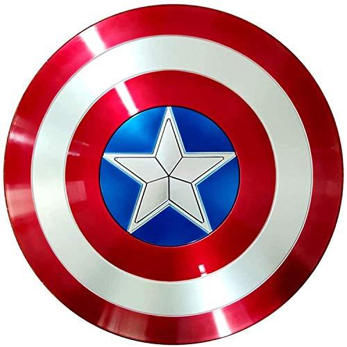 The Avengers Marvel Captain America Costume Bouclier en ABS Adulte Taille Unique Accessoires de Film 58CM, GarçOn Super-HéRos Costume
