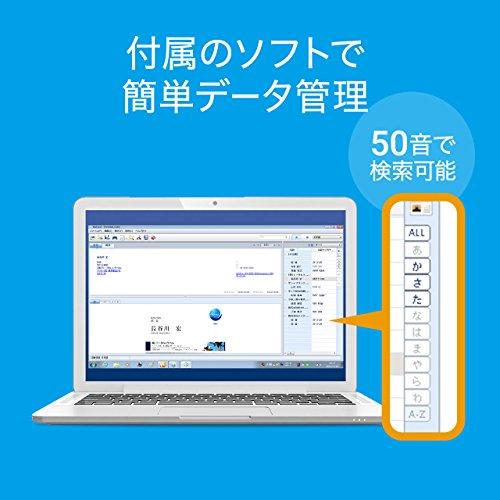 サンワダイレクト名刺スキャナー管理ソフト付きデータ化A6サイズまで対応Windows対応400-SCN051