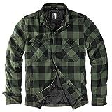 Lumberjacket Rocky - Chaqueta para hombre negro y verde oliva XXXXL