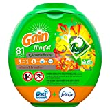 Gain flings! Laundry Detergent Pacs plus Aroma Boost, Island Fresh Scent, HE Compatible, 81 Count (Packaging May Vary)
