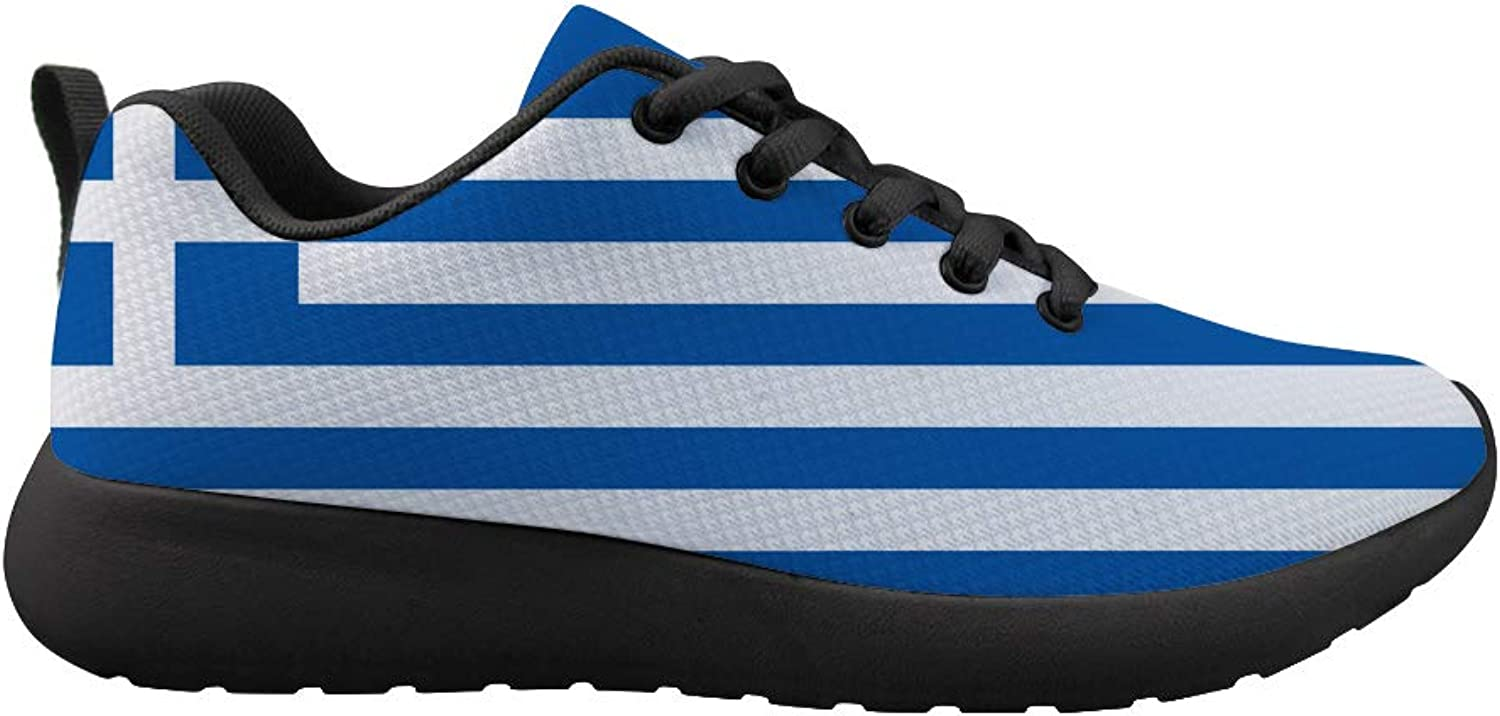 Owaheson Cushioning Sneaker Trail Running shoes Mens Womens Greek Flag