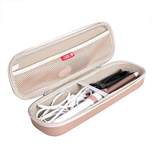 Hermitshell Hard Travel Case for Conair Double Ceramic Curling Iron 0.5 Inch / 0.75 Inch / 1 Inch / 1.25 Inch / 1.5 Inch Curling Iron (Rose Gold)
