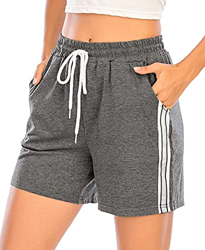 Enjoyoself Pantaloncini Sportivi da Donna Pantaloni Corti Estivi Pantaloncini da Pigiama Casual Comodo Traspirante