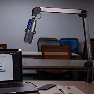 THRONMAX Caster Adjustable Microphone Boom Arm Stand, Made of Aluminium For Broadcasting Studio, Youtubers, and TV Station...