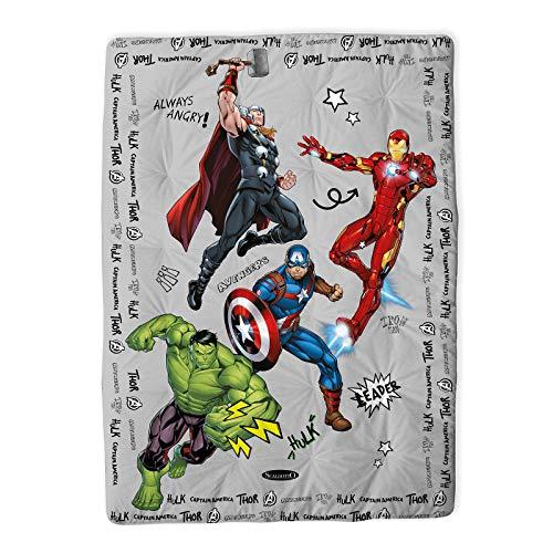 Caleffi Avengers Team Scaldotto Plaid Imbottito, Cotone , Unica, CM.110X160, 81207 , Marvel