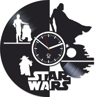 The Force Awakens, Kovides, Vinyl Record Wall Clock, Children, Star Wars, Yoda, Han Solo, Best Brother, Birthday Gift, Movie,