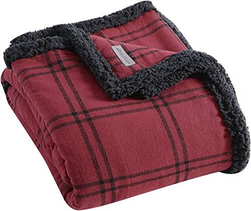XUFAN Las Mantas de Muebles for el hogar, Las Mantas de Tiro se Pueden Girar sobre Mantas, Suaves y cómodas, Muy adecuadas for Camas o sofás, Manta (Color : Kettle Falls Red)