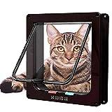 vlocemon Large Weatherproof Cat Door (Outer Size 9.9' x 9.2') 4-Way...