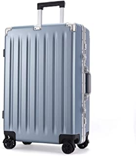 GLJJQMY Trolley PC Suitcase 21 Inch Boarding General Wheel Aluminum Frame Box Trolley case (Color : Blue, Size : 25 inches)