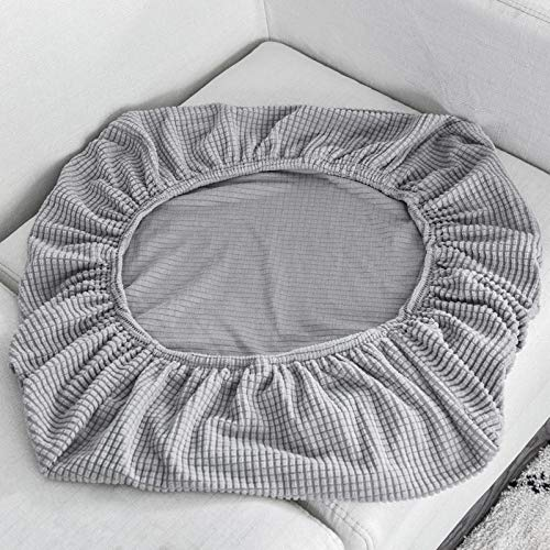 HXTSWGS Revêtement de Canapé Universelle,Sofa Seat Cushion Cover, Stretch Sofa Covers for Living Room Chair Cover Pets Kids Furniture Protector-Light Grey_Seat Length 50-65cm
