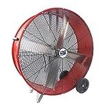MaxxAir High Velocity Industrial Belt Drive Barrel Fan. Heavy Duty...