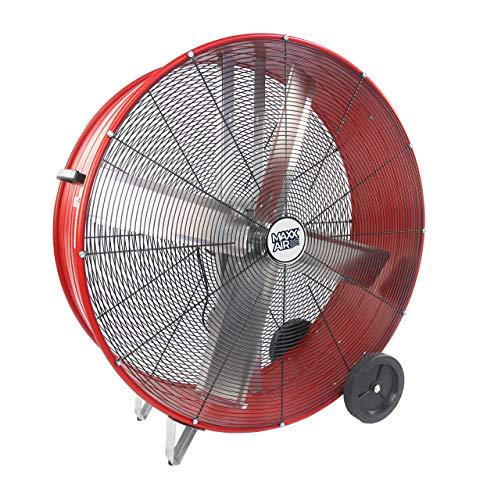 MaxxAir High Velocity Industrial Belt Drive Barrel Fan. Heavy Duty Rolled Steel Housing (42 Inch Barrel Fan)