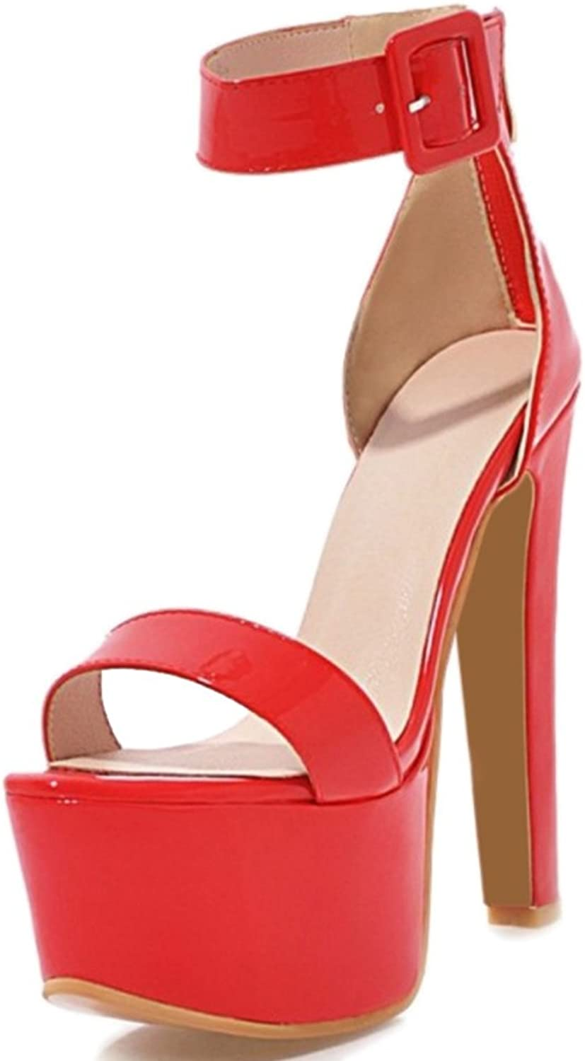 CuteFlats Woemn Dressy Sandals with High Stiletto and Thick Platform