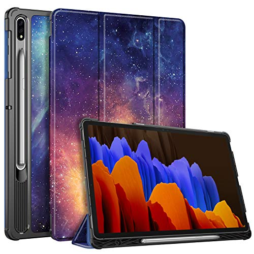 Fintie Slim Case for Samsung Galaxy Tab S7 Plus 12.4'' 2020 (Model SM-T970/T975/T976/T978) with S Pen Holder, Ultra Lightweight Tri-Fold Stand Cover with Auto Wake/Sleep, Galaxy