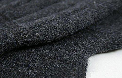 Unisex Wolle Cashmere Kniebandage Pads Winter Warm Thermo-Knielinge Sleeve für Frauen Herren - 6