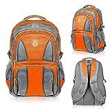 Elitar Rucksack Wasserfest Unisex 34 L Grau-Orange