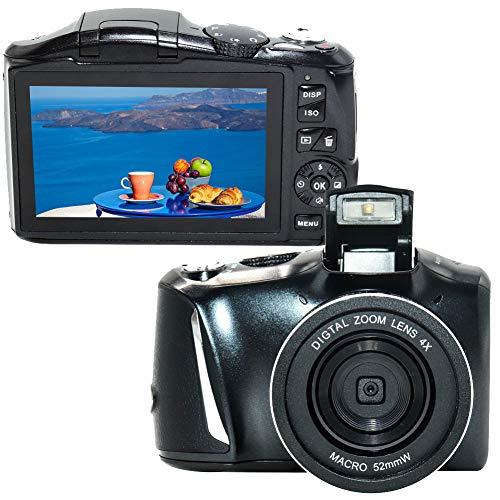 Appareil Photo Numérique Vlogging Camera Full HD 2.7K 48MP Rechargeable Appareille Photo pour Adolescents et Débutants