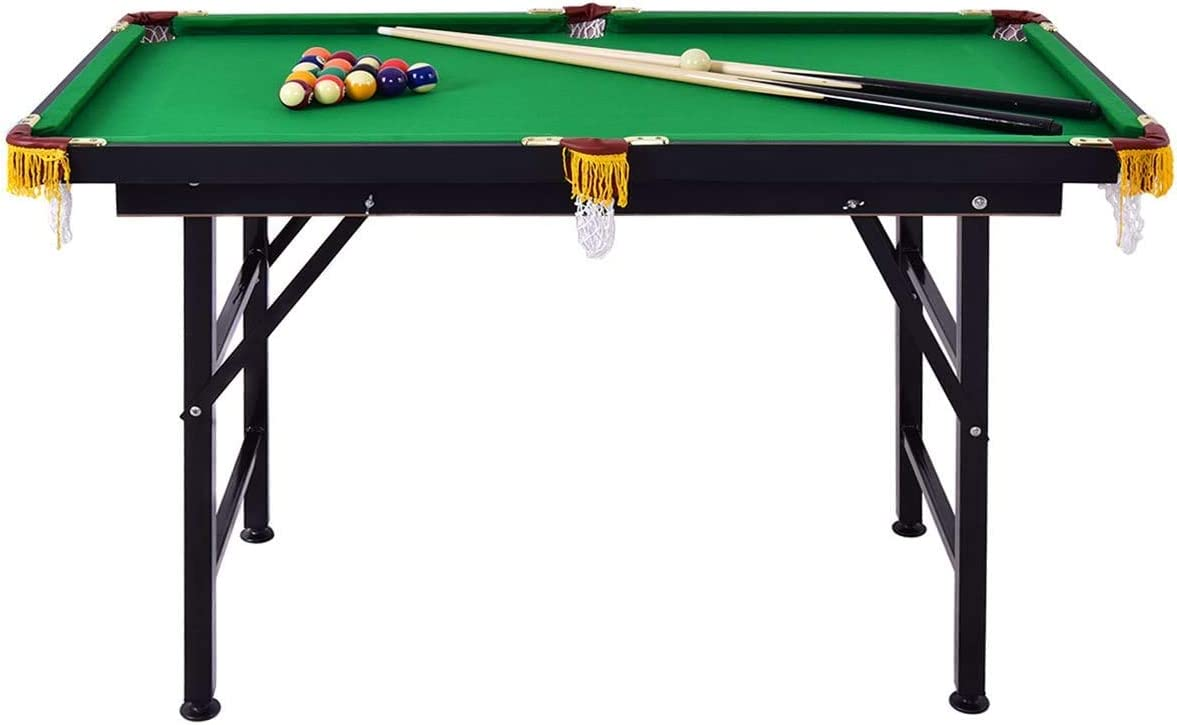 LDAILY Folding Pool Table 100% quality warranty Set Portable Brand new Ball Game 2 Cu with