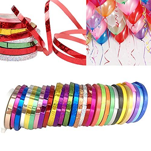 (62 Rollos)Cinta de Rizo Cinta para envolver regalos Cinta para Globos Fiestas Floritería Manualidades Boda San Valentín