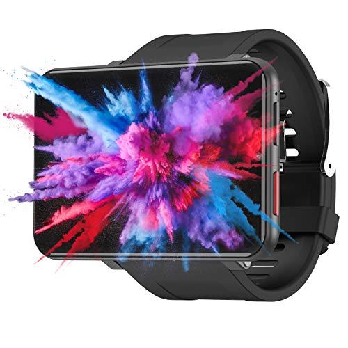 4G Smart Watch Orologio Sportivo GPS con Fotocamera da 5MP HD +2700mah Batteria Grande + 2.8 Display LCD Smartwatch WiFi Pedometro della Frequenza Orologio Telefonocon SIM Slot (Nero, 1+16GB)