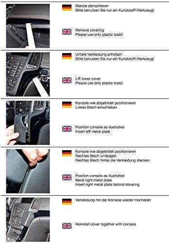 KUDA 1225 Halterung Kunstleder schwarz für Opel Cascada ab 04/2013