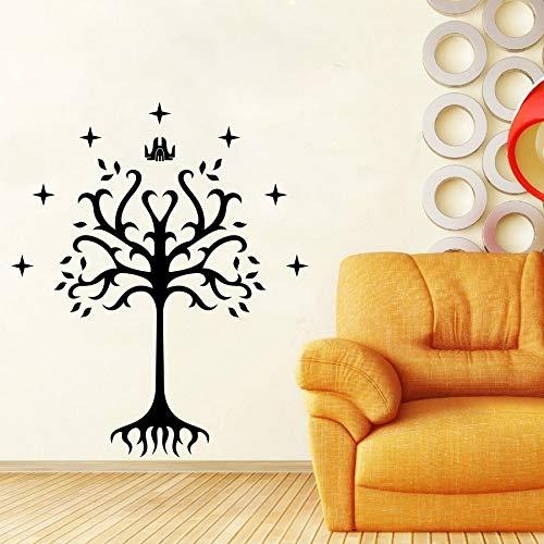 Tree of Gondor vinyl decal sticker van voor autoruit, laptop, motorfiets, muren, spiegel en meer 72x60cm