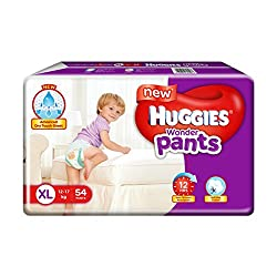 Huggies wonder Pant is one of the reliable brands that manufacture high-quality diapers.It is best baby diapers in India.