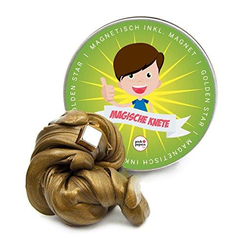 Pink Papaya Magische Knete - Golden Star - magnetische Fidget Knete, BPA Free, Farbe: Gold, das intelligente Knetgummi zur Stressreduktion - in vielen Farben mit verschiedenen Eigenschaften