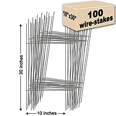 Yard Signs 100 Yard Sign Stakes Double H-Frame 10 in. x 30 in. Made in USA, Ship Same Day