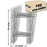 100 Yard Sign Stakes Double H-Frame 10 in. x 30 in. USA Made