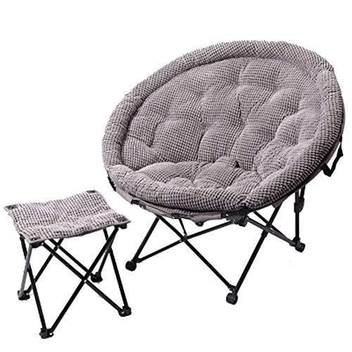 LSF Mobiler Mondstuhl Fauler Klappstuhl Tragbare Falten Saucer Padded Moon Chair Comfort Wohnzimmer Schlafzimmer Gartenmöbel Camping (Color : F)