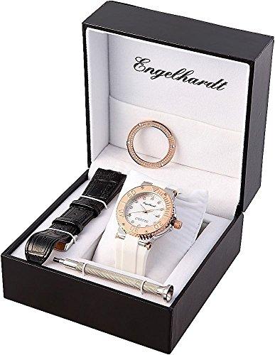 Engelhardt Damen Analog Mechanik Uhr mit Gummi Armband 386702019030