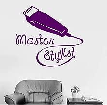 Corte de pelo Calcomanía de pared Estilista maestro Peluquería Peluquería Barbería Etiqueta de la pared para la tienda Ventana Arte Mural 46x42cm