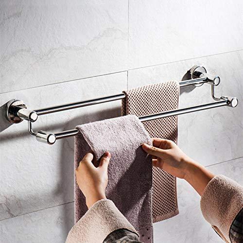 FTYYSWL Single Bar Double Bar Waterproof Stainless Steel,Self Adhesive Hand Towel Holder,Towel Rack Hanger,Towel Shelf,in Bathroom/Kitchen-Hole_installation-30CM