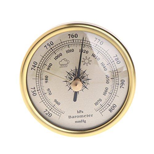 SUCHUANGUANG Barometro da Parete 72mm 1070hPa Quadrante Rotondo Color Oro Misura Stazione meteorologica Oro