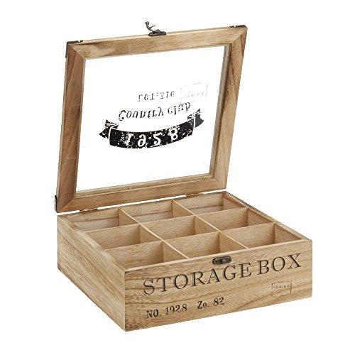 ToCi -   Teebox Holz Natur