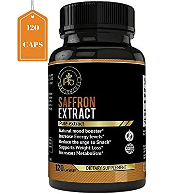 iPro Organic Supplements Saffron Pure Extract for Eye Health Depression All Natural Pills Appetite Suppressant Weight Loss Boost Metabolism Macular Degeneration Mood Energy Booster