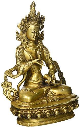 Exotic India Tibetische Buddhistische Gottheit Vajra Sattva, gelb, 8,9 x 15,2 x 21,6 cm