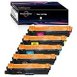 Dream-seeker Compatible con Brother TN 243 TN 247 TN243BK TN247BK TN243C Cartuchos de Tóner para Brother HL-L3210CW HL-L3230CDW HL-L3270CDW MFC-L3710CW DCP-L3550CDW MFC-L3730CDN (5 Paquetes)