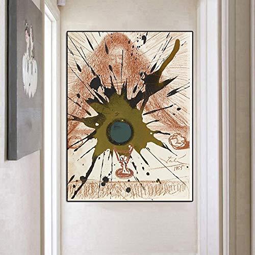 wZUN Pinturas Famosas Murales Abstractos Lienzo de Arte Carteles e Impresiones Imágenes 60X90 Sin Marco