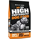 Bully Max High Performance Super Premium Dog Food. for All Ages (for Puppies & Adult Dogs). 535 Calories Per Cup. for Muscle, Size, Growth, and Weight. (5 Pound Bag)