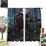 Petpany The Witcher 3 Wild Hunt Hunting Geralt Juego de cortinas para ventana, 214 x 214 cm, cortinas oscuras en la habitación aislada de la sala de estar. Cortinas para dormitorio