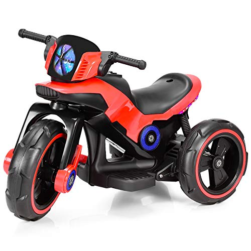 Costzon Kids Motorcycle 6V Bicycle 3 Wheels Battery Powered W/ MP3 for Boys &...